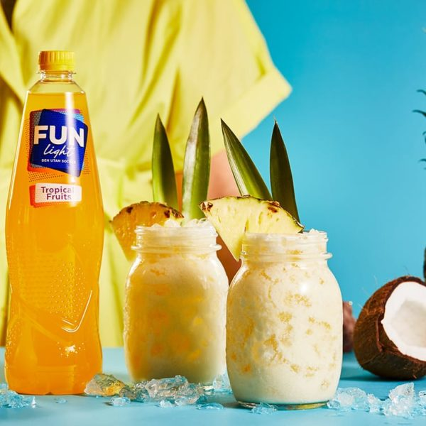 Fun light saft drink pink colada recept